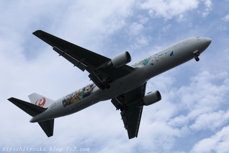 8754 JAL、東京ディズニーリゾート35周年記念特別塗装機「JAL セレブレーションエクスプレス」就航-SN