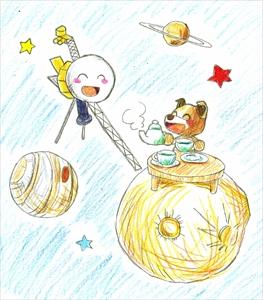 宇宙でお茶会