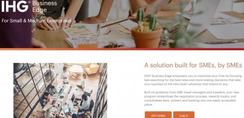 IHGリワードクラブはBusiness Edgeという中小企業の従業員向けの新しいプログラム