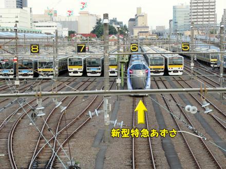 早朝の電車観察