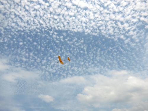 バルサ機、飛んでるトコ。 その2!
