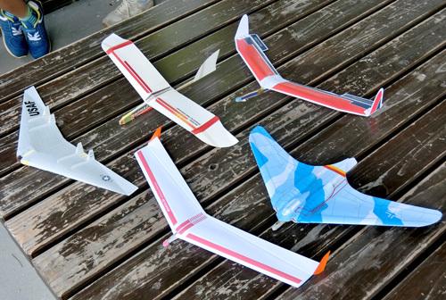 W400立体無尾翼機たち。