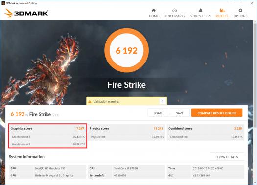 Spectre x360 15-ch000_Core i7-8705G_Fire Strike_01s