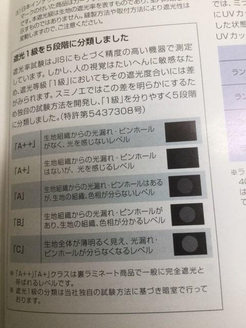 スミノエ遮光1級5段階評価