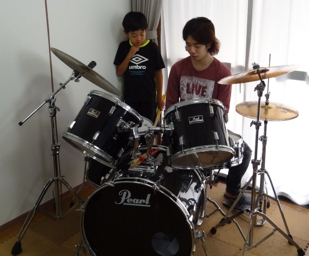 小学生のドラムレッスン ドラムセットの説明