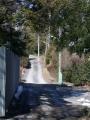 赤芝新田 258-7 逆Y字分岐点よりの奥・行き止りから北坂上方向を見る