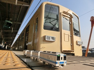東武8000系セイジクリーム塗装車とのコラボ撮影
