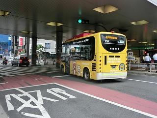 ハチ公バス リラックマラッピング(後部)