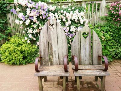 イングリッシュガーデンハートの椅子