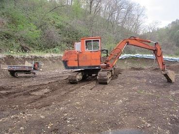 池の修復3