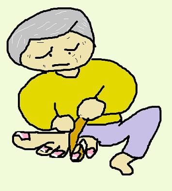 左足の薬指