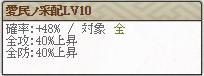 特 氏直Lv10
