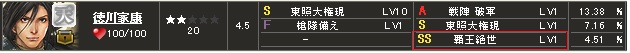 覇 家康S1