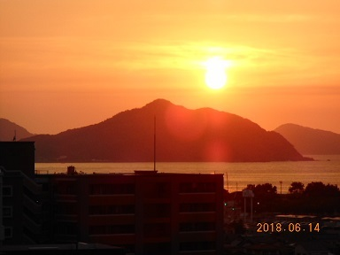14日夕陽