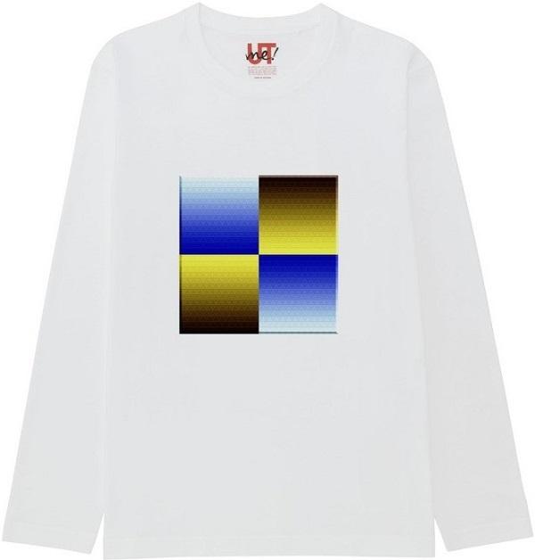 472860498_mirrorネガポジ反転連結立体枠リサイズ600Tシャツベーシック長袖白 (2)