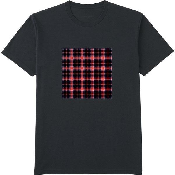 チェック19のコピー2ガラス処理Tシャツドライカラー黒