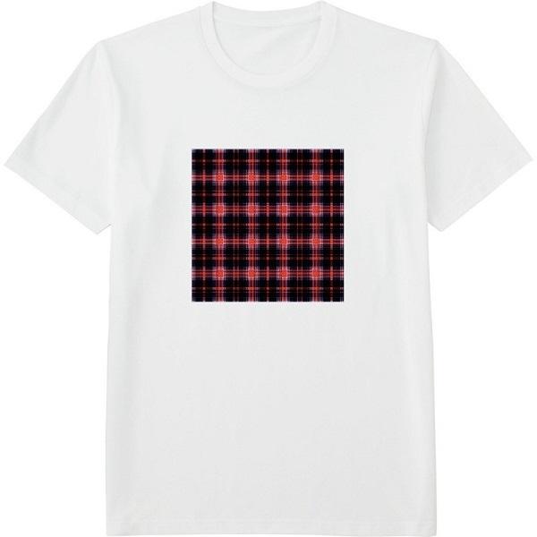 チェック19のコピー2ガラス処理Tシャツドライカラー白