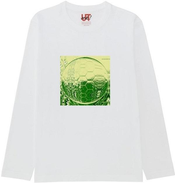 generated_mirror5Tシャツベーシック長袖白