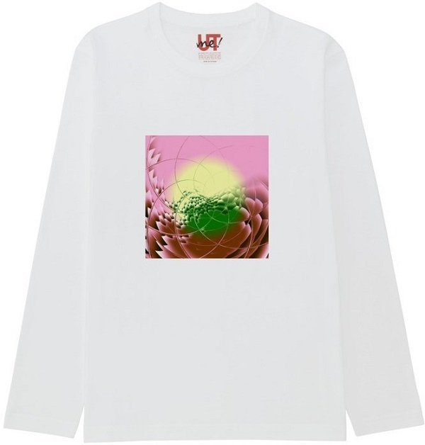 generated_mirror7Tシャツベーシック長袖白