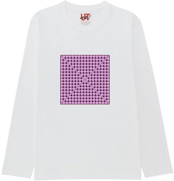 365636436_mirror4ガラス処理18エンボス凸凹反転ベーシック長袖Tシャツ白
