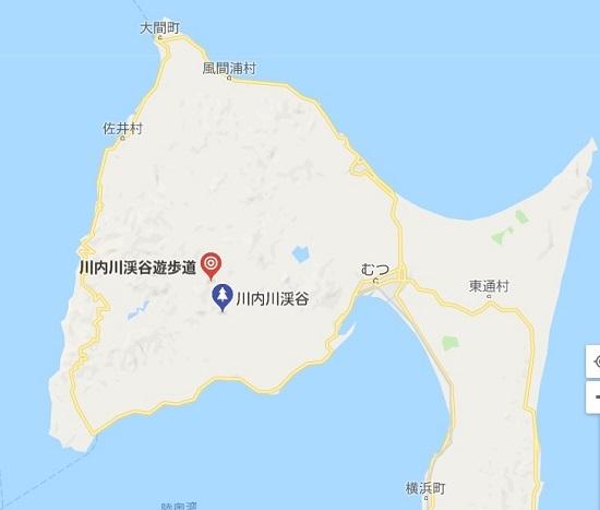 川内川渓谷遊歩道大滝地図