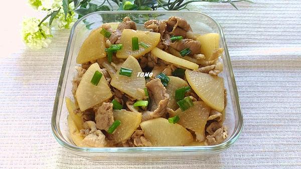 豚肉と大根の甘辛炒め煮