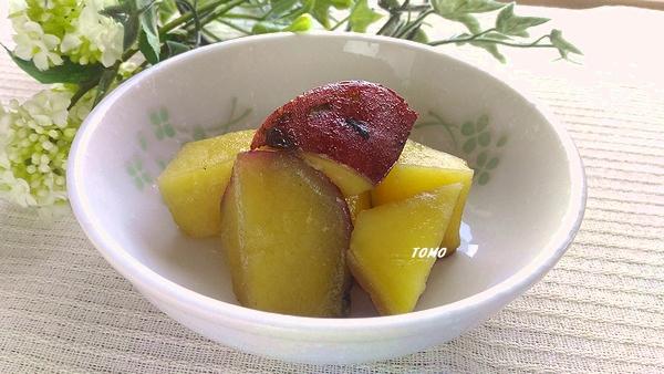 ごま油で炒めて!サツマイモの甘煮
