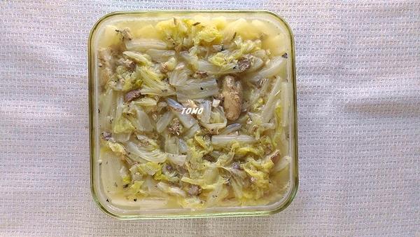 白菜と鯖缶のくたくた煮