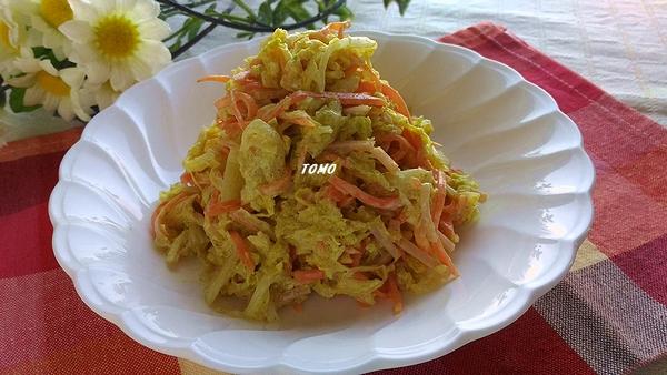 白菜のカレーコールスローカレー粉