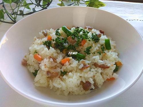 福豆の洋風炊き込みご飯1