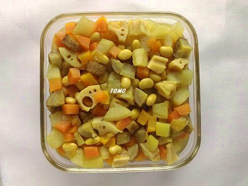 カレー風味の五目豆