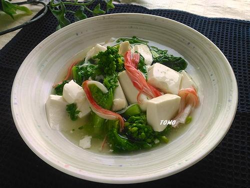 お豆腐と菜の花のうま煮
