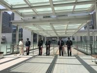 田町駅東口駅前広場歩行者デッキ開通式