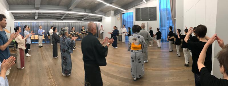 雷門盆踊りの練習風景