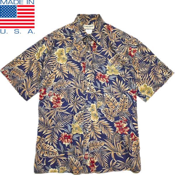 USEDアロハAlohaハワイアンシャツ柄シャツ画像メンズレディースコーデ@古着屋カチカチ03