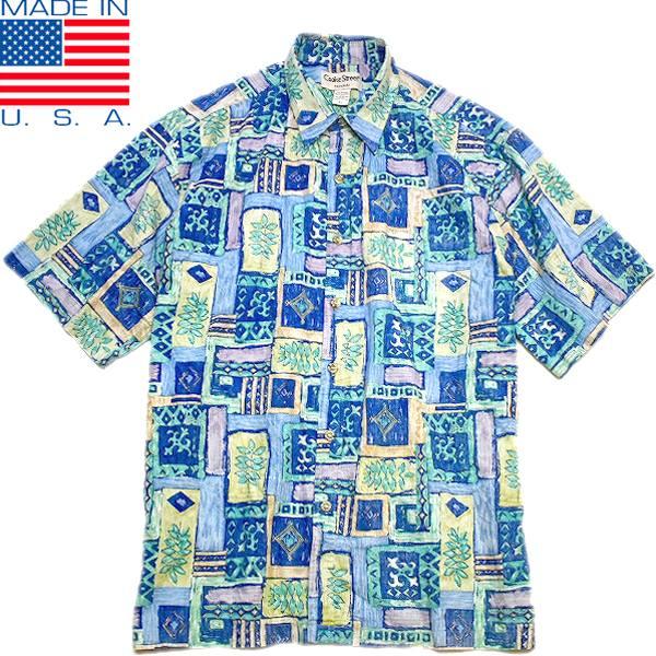 USEDアロハAlohaハワイアンシャツ柄シャツ画像メンズレディースコーデ@古着屋カチカチ05