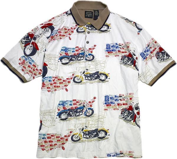 アロハ柄ポロシャツ画像メンズレディースコーデ@古着屋カチカチ02