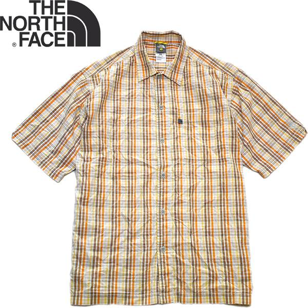 Used半袖チェックシャツ画像メンズレディースコーデ@古着屋カチカチ02