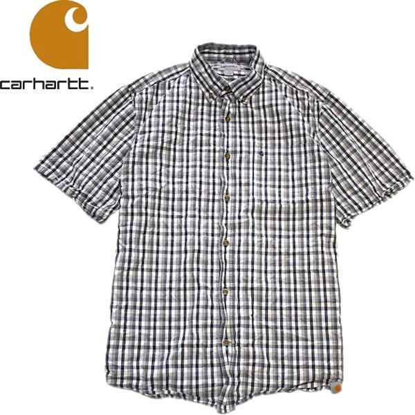 Used半袖チェックシャツ画像メンズレディースコーデ@古着屋カチカチ04