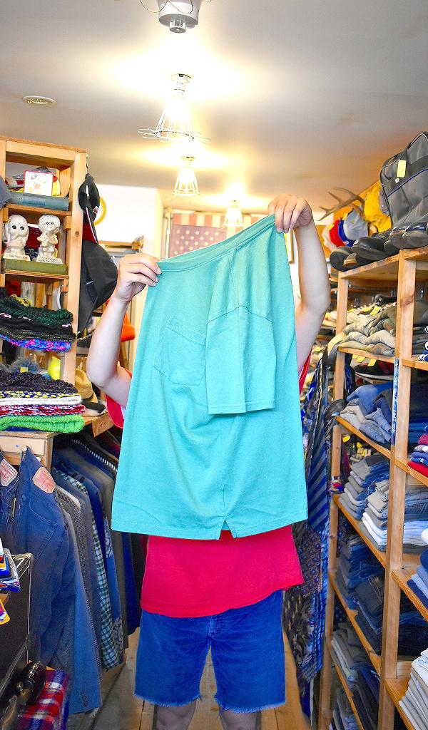 ポケットTシャツPocketTee画像メンズレディースコーデ@古着屋カチカチ05