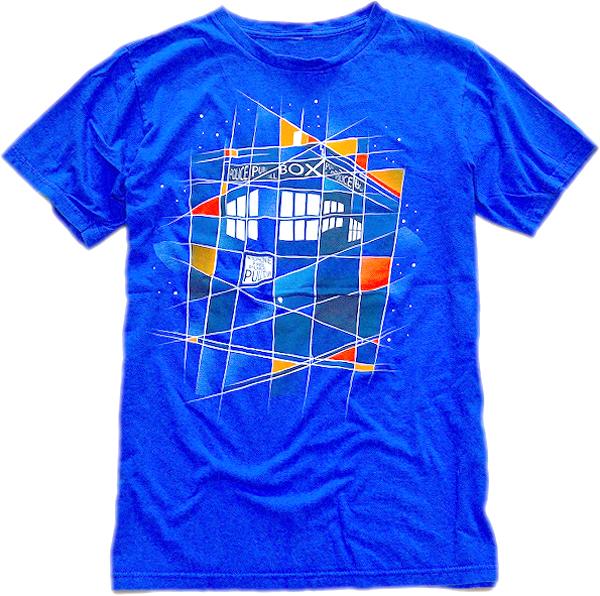さわやか青プリントTシャツ画像@古着屋カチカチ (6)