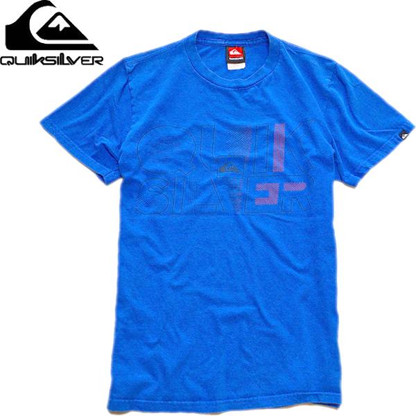 さわやか青プリントTシャツ画像@古着屋カチカチ (10)