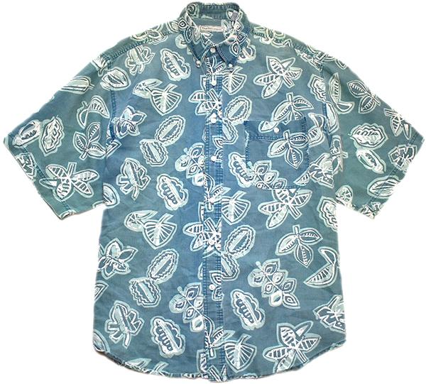 アロハシャツ柄シャツ画像メンズレディースリゾートコーデ@古着屋カチカチ