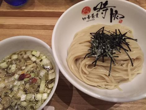 青唐辛子酸辛雉つけ蕎麦