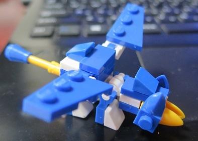 恐竜ナノブロック ブルー