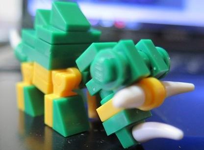 恐竜ナノブロック グリーン