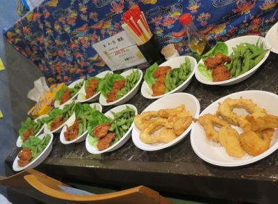 沖縄天ぷら、枝豆とトリ唐