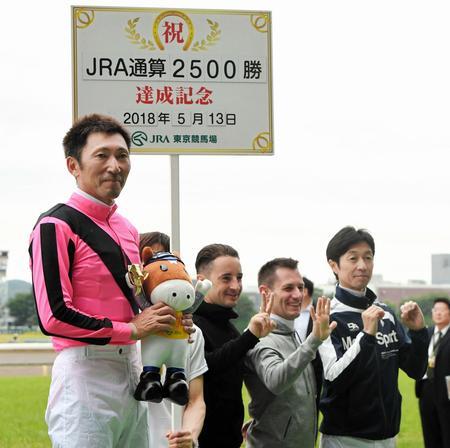 【競馬】蛯名正義騎手、現役3人目のJRA通算2500勝達成!