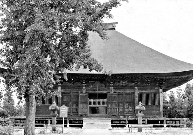昭和46年に訪れた時の勝常寺・本堂