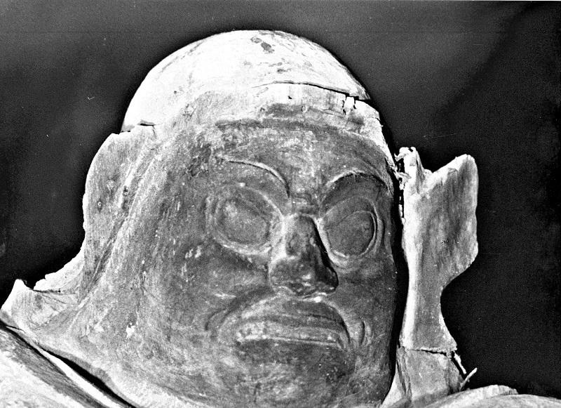 黒石寺・四天王像(昭和46年探訪時に撮影)